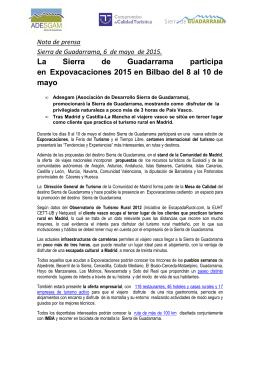 NdP La Sierra de Guadarrama Expovacaciones Bilbao