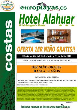 (BND 1003 HOTEL ALAHUAR- NI\321OS GRATIS)