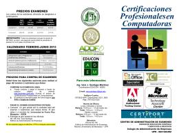 Computadoras en Certificaciones Profesionales
