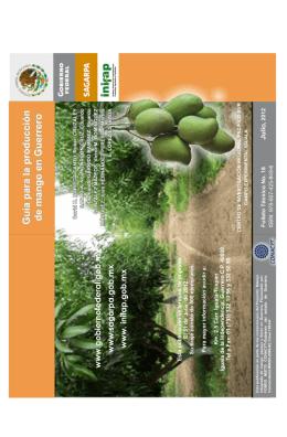 Guia para la producción de mango en Guerrero