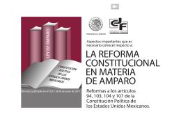 TRIPTICO REFORMA AMPARO - Consejo de la Judicatura Federal