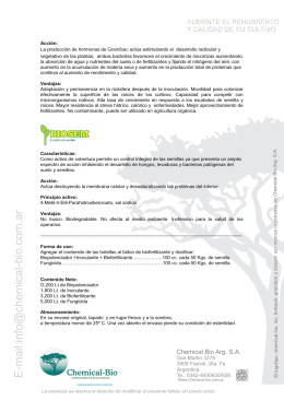 folleto fts mx.cdr - Sitio web de Chemical Bio Argentina Sa
