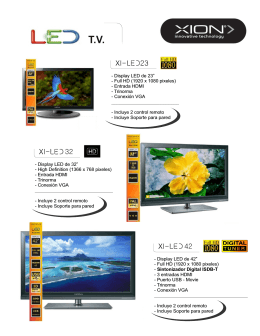 Folleto LED TV
