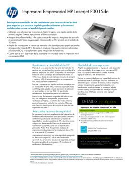 Impresora Empresarial HP Laserjet P3015dn