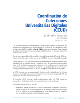 Memoria Universitaria - CCUD