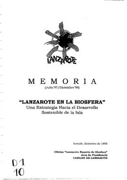 M E M O R I A - Centro de datos : Lanzarote