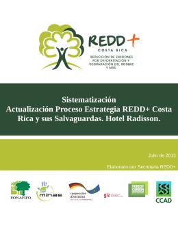Sistematización Actualización Proceso Estrategia REDD+ Costa