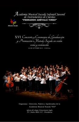 XVI Concierto y Ceremonia de Graduación y Premiación Metodo