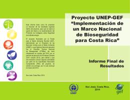 Informe final y resultados generados por el proyecto