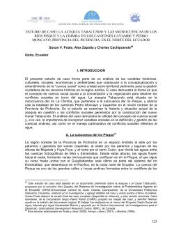 Derechos de Agua-Parte II - Visión Social del Agua en Los Andes