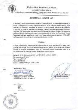 Consejo Universitario - Repositorio Universidad Técnica de Ambato