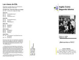 ESL brochure spanish Sp08