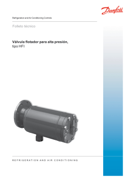 Folleto técnico Válvula flotador para alta presión