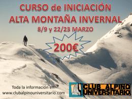 Folleto curso alta montanya 2014