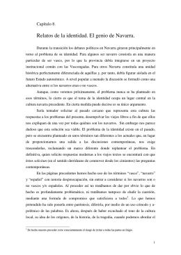 Relatos de la identidad. El genio de Navarra.