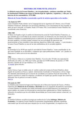 HISTORIA DE FORUM FILATELICO