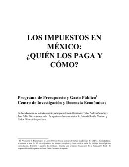 los impuestos en méxico - Academia Mexicana de Investigación