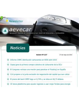 boletin informativo aevecar 1327 _27-5-2015