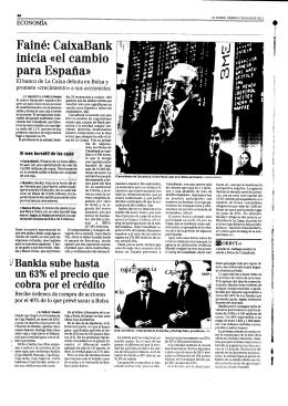 Fainé: CaixaBank inicia «el cambio para España»