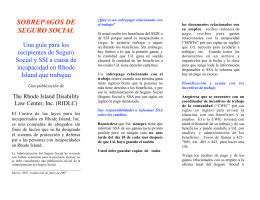 sobrepagos de seguro social - Rhode Island Disability Law Center