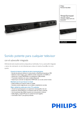 HTL3120/55 Philips Parlante Soundbar