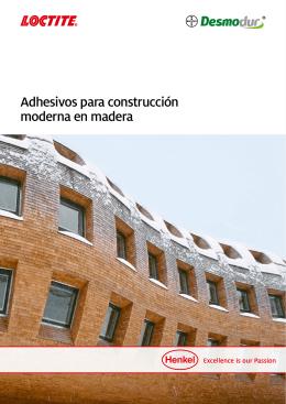 Adhesivos para construcción moderna en madera - Henkel