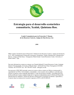 Estrategia para el desarrollo ecoturistico comunitario, Xcalak