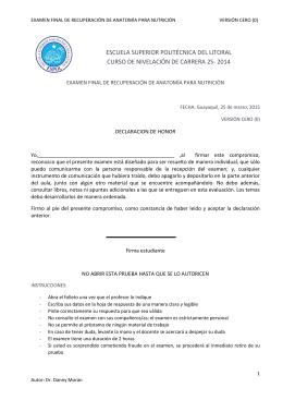 2S-2014 ExamenRecuperación ANATOMIA VERSION 0