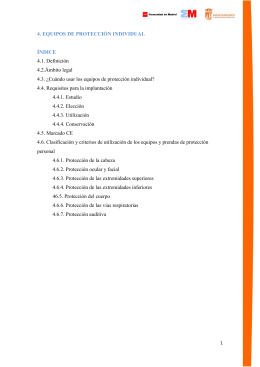 4. EQUIPOS DE PROTECCIÓN INDIVIDUAL ÍNDICE