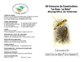folleto 2014 - Asociación Ornitológica Las Rozas