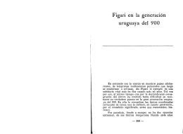 Figari en la generación uruguaya del 900