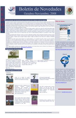 Boletín de Novedades - Instituto Nacional de las Mujeres