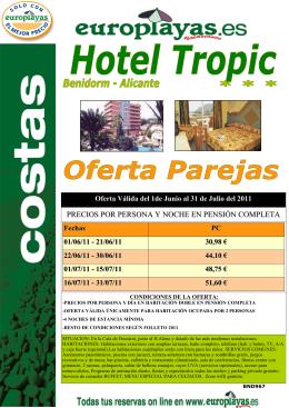 (BND 967 HOTEL TROPIC - AMPLIACI\323N PAREJAS)