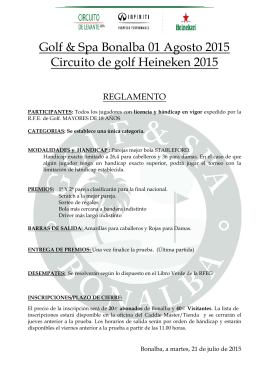 Reglamento - Club de Golf Bonalba