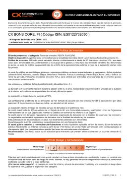 CX BONS CORE, FI ( Código ISIN: ES0122702030 )