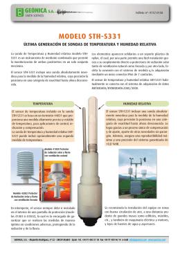 9737 0158 STH-S331 Sondas de Temperatura y HR