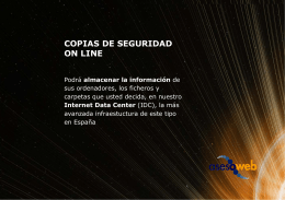 Copias de Seguridad On Line