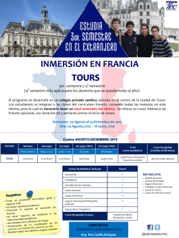 folleto tours - Programas Internacionales