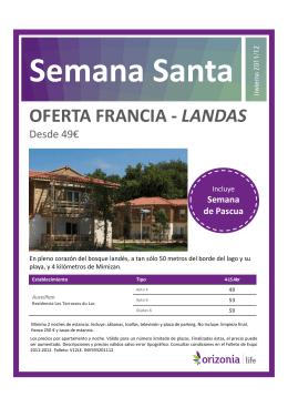 OFERTA FRANCIA - LANDAS