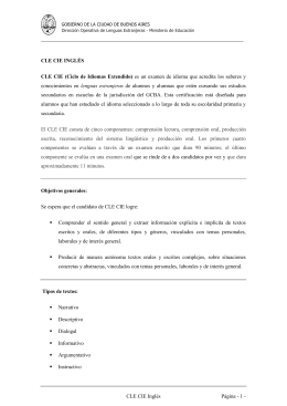 CLE CIE INGLÉS - Ciudad Autónoma de Buenos Aires