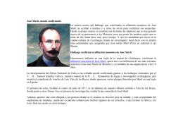 José Martí, masón confirmado La noticia acerca del hallazgo que