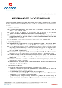 BASES DEL CONCURSO PLAYA/PISCINA FAVORITA