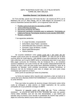 de Octubre de 2.013 - Inicio - CEIP BLAS INFANTE. Torre del Mar