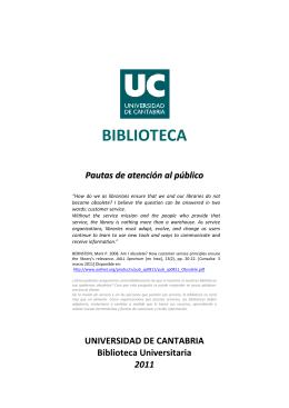 atención al público - BUC - Universidad de Cantabria