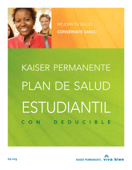 Student Health Plan DHMO Brochure Spanish Translation