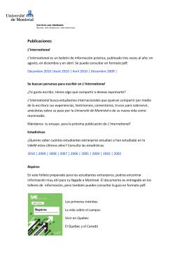 Publicaciones - Université de Montréal
