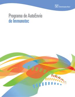 Programa de AutoEnvío de Immunotec