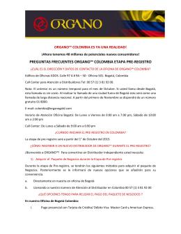 preguntas frecuentes organo™ colombia etapa pre