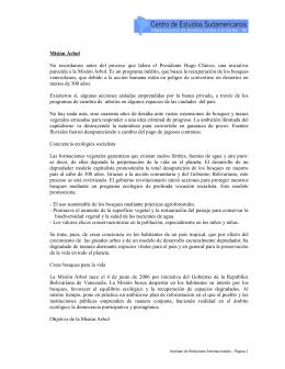Venezuela - Misión Árbol (4 p.)