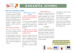 descarga folleto de garantía juvenil